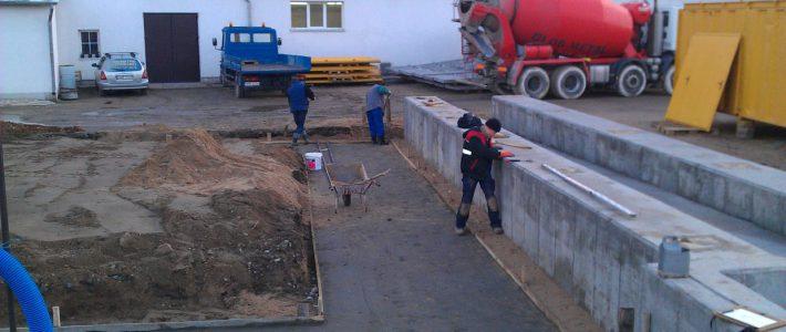 Budowa węzła betoniarskiego, Glob-Metal, Mrągowo