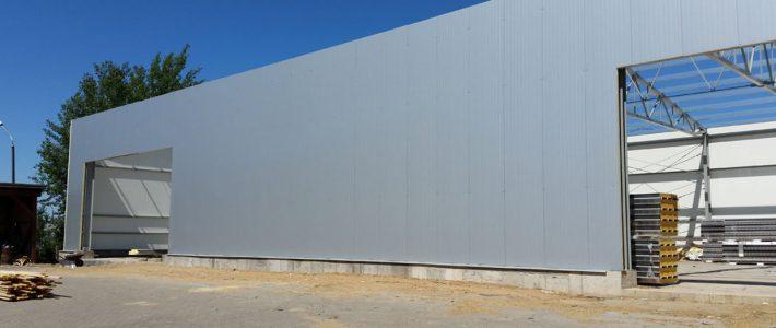 Budowa hali produkcyjnej, CBM, Mrągowo