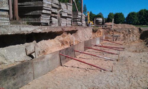 Budowa muru oporowego (2)